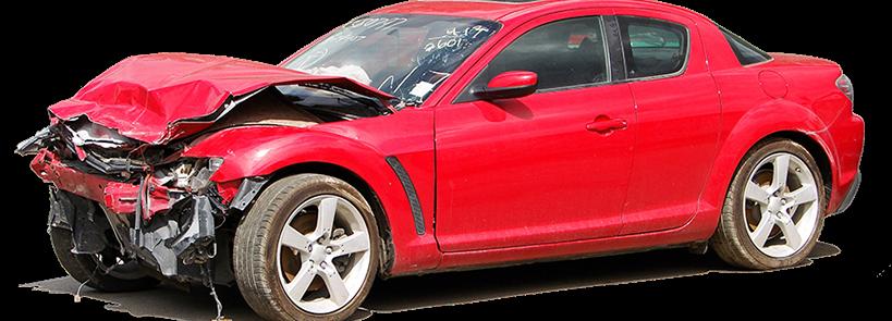 Red Junk Car