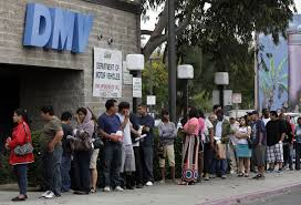 Lining up at the DMV to get a duplicate title to sell my junk car